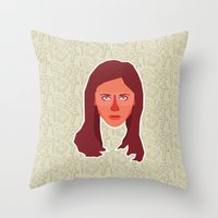 buffy the vampire slayer Throw Pillows featuring Buffy Summers - Buffy the Vampire Slayer by Kuki