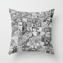 Doodling Together #2 Throw Pillow