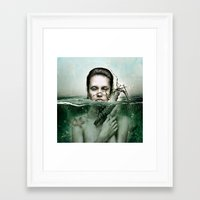 siren Framed Art Prints featuring Siren by JudasArt