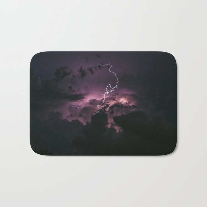 Purple lightning #stars Bath Mat