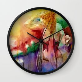 The Journey Gallery:  Dancing With The Universe Wall Clock