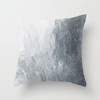 silver Throw Pillows featuring Silver by Patterns and Textures