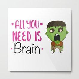 Brain 5 Metal Print
