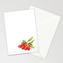 Group o' Goji berries Stationery Cards