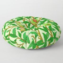 Art Nouveau Bird and Pomegranate, Lime Green Floor Pillow