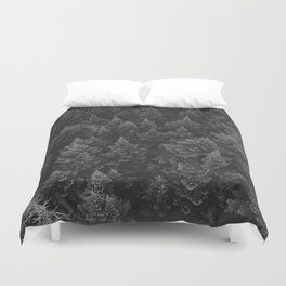 The Forest (Black and White) Duvet Cover