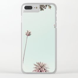 Beverly Hills Palms California Mint Clear iPhone Case