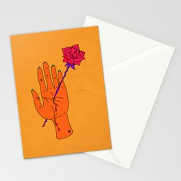 Wounded Hand - Golden yellow Stationery Cards