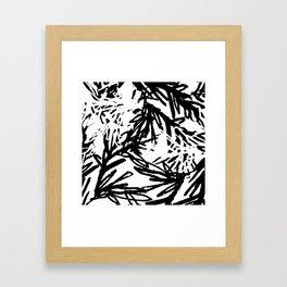naturally, black and white/ part I Framed Art Print