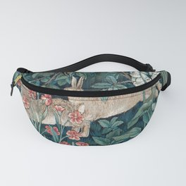 William Morris Forest Rabbits and Foxglove Greenery Fanny Pack