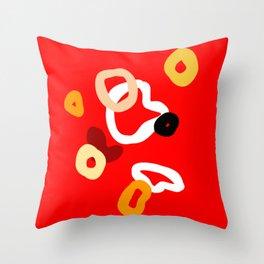 playful red Throw Pillow