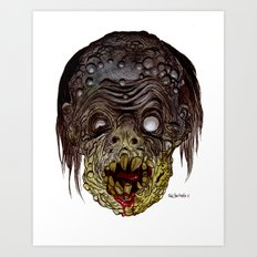 Heads of the Living Dead Zombies: Comic Book Zombie Art Print
