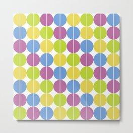 Green   Purple   Blue   Yellow Circle Pattern Metal Print