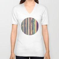 vinyl V-neck T-shirts featuring Vinyl  by Laura Ruth