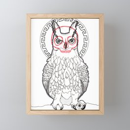 Grumpy Owl Framed Mini Art Print