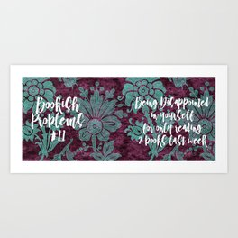 Bookish Problems Mug - Disappointment in Yourself Art Print