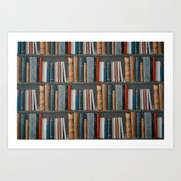 Vintage bookworm Art Print