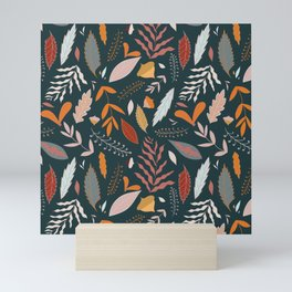 autumn falling leaves // pine colour palette Mini Art Print