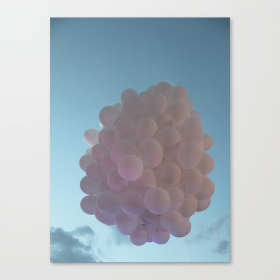 up up and away - balloons Canvas Print