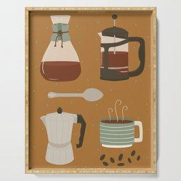 Coffee Utensils Serving Tray