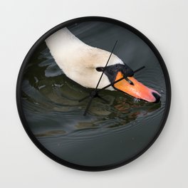 Mute Swan in Winter - Neck Skimming Wall Clock