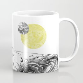 Tomo - spilled ink abstract space sun moon earth swirl marble painting dorm college trendy art Coffee Mug