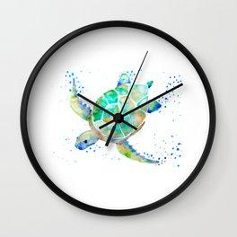 Turtle blue Wall Clock