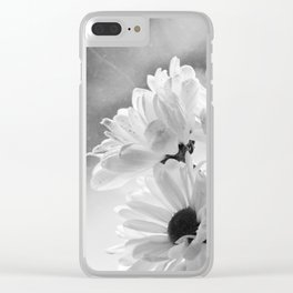 Daisy (B&W) Clear iPhone Case