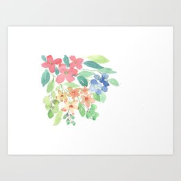 Cluster of flowers Art Print