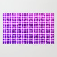 mosaic Area & Throw Rugs featuring Pink purple mosaic by David Zydd