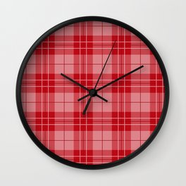 Holly Berry Plaid Wall Clock