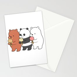Baby Bears Eating Some Ice Cream Stationery Cards