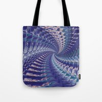 psych Tote Bags featuring Purple Psych v2 by Grace Phillips