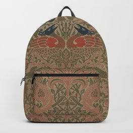 Peacock and Dragon by William Morris 1878, Antique Vintage Wall Hanging Pattern CC0 Spring Summer Backpack