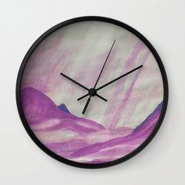 It's raining purple Wall Clock