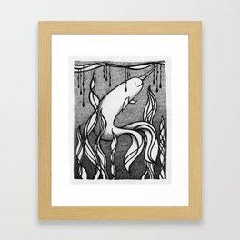 The Little Narwhal Framed Art Print