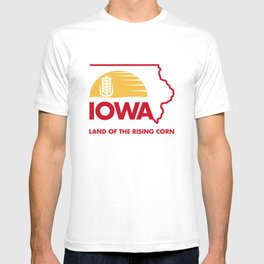 Iowa: Land of the Rising Corn - Red and Gold Edition T-shirt