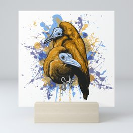 Capuchin birds Mini Art Print