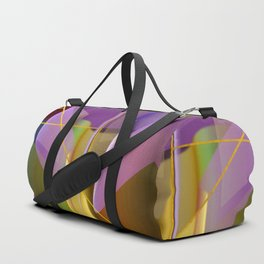 Modern abstract with crossing golden lines Duffle Bag