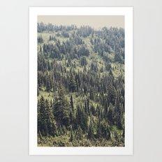 Mountain Trees Art Print