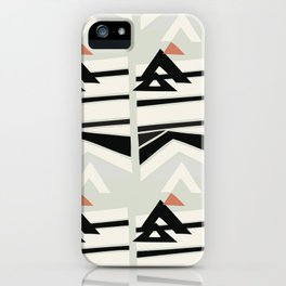 Modern Geometry Color Blocking iPhone Case