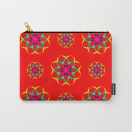 Retro Circles Background Pattern Carry-All Pouch