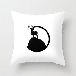 deer pose Throw Pillow