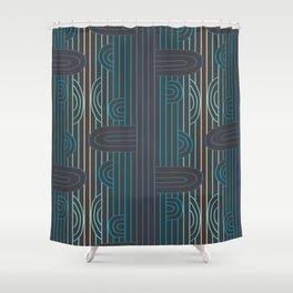 art deco stripe Shower Curtain
