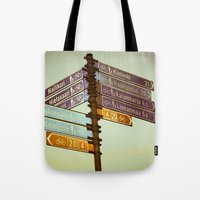 finland Tote Bags featuring Oh, Suomi (Finland) by Kim Ramage