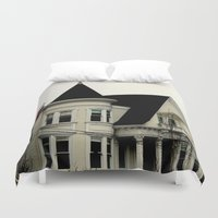 gothic Duvet Covers featuring Ghostly Gothic by oneofacard