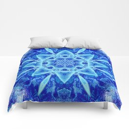 Ice Matrix Mandala Comforters