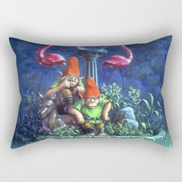 Revenge of the Lawn Gnomes Rectangular Pillow