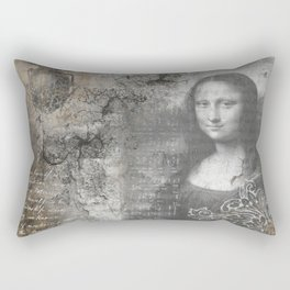 Secrets of the Mona Lisa Rectangular Pillow