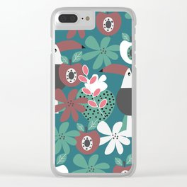 Toucans with apples and strawberries Clear iPhone Case